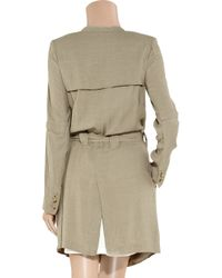 Helmut Lang - Natural Collarless Twill Trench Coat - Lyst