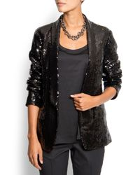 Mango | Black Sequin Suit Jacket | Lyst