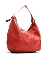 Mango - Red Hobo Handbag - Lyst