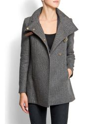 Mango | Gray Straps Coat | Lyst