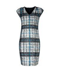 Mango   Gray Sheath Dress   Lyst