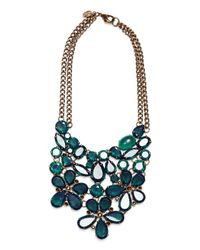 Mango - Green Stone Necklace - Lyst