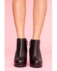 Nasty Gal - Paloma Wedge Boot - Black - Lyst