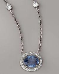 Penny Preville - Blue Sapphire & Diamond Necklace - Lyst