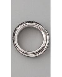 Tom Binns | Black Bejeweled Pave Saturn Ring | Lyst