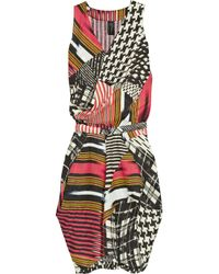 Zero + Maria Cornejo | Red Zazi Printed Linen Dress | Lyst