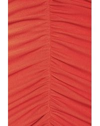 Alice By Temperley - Red Molina Ruched Jersey Dress - Lyst