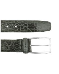 A.Testoni | Black Mens Asphalt Gray Crocodile Belt for Men | Lyst