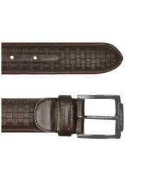 A.Testoni - Mens Dark Brown Woven Dear Leather Belt for Men - Lyst