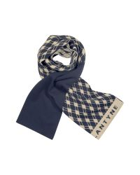 Ballantyne | Blue Signature Argyle Wool Scarf | Lyst