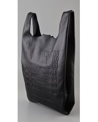Cast Of Vices Black Corner Store Leather Tote