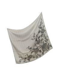 Fendi - Brown Lace Flower Silk Square Scarf - Lyst