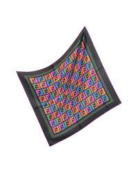 Fendi - Multicolor Zucca Silk Square Scarf - Lyst