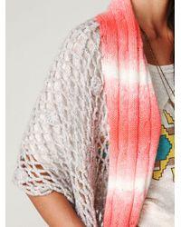 Free People - Red Kanzu Lattice Stitch Wrap - Lyst