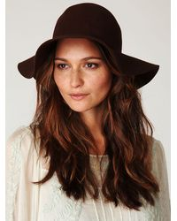Free People | Brown Jenny Floppy Hat | Lyst
