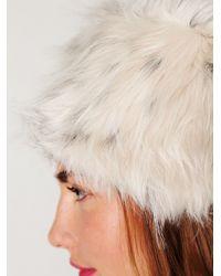 Free People | Natural Babushka Faux Fur Hat | Lyst