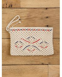 Free People | Natural Vintage Macrame Wrist Bag | Lyst