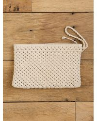 Free People | Natural Vintage Macrame Wrist Bag | Lyst