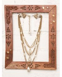 Free People - Metallic Vintage Tiered Gold Necklace - Lyst