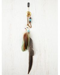 Free People | Green Falling Feather Hair Clip | Lyst