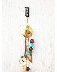 Free People - Green Falling Feather Hair Clip - Lyst