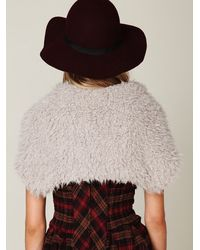 Free People - Gray Swalesdale Texture Shrug - Lyst