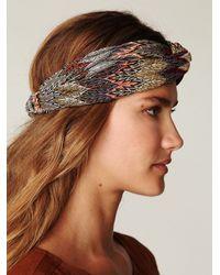 Free People | Multicolor Zig Zag Turban Headband | Lyst
