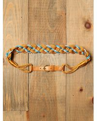 Free People | Yellow Totem Rope Waist Belt | Lyst