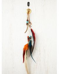 Free People - Red Falling Feather Hair Clip - Lyst