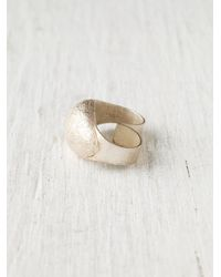Free People - Metallic Foil Double Ring - Lyst
