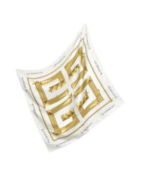 Givenchy | Metallic Star Logo Signature Silk Square Scarf | Lyst