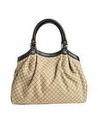 Gucci | Natural Beige Diamante Canvas Sukey Top Handle Bag | Lyst