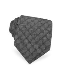 Gucci - Black Gg Diamond Pattern Silk Tie for Men - Lyst