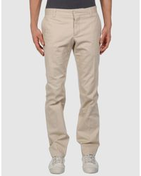 Gucci | Beige Skinny Mid Rise Logo for Men | Lyst