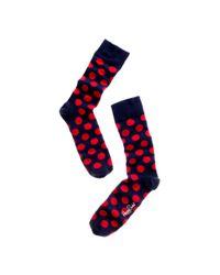 Happy Socks | Blue Big Dot Socks | Lyst