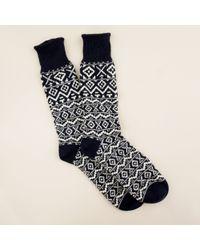 J.Crew | Blue Fair Isle Camp Socks for Men | Lyst
