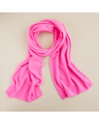 J.Crew | Pink Cashmere Scarf | Lyst