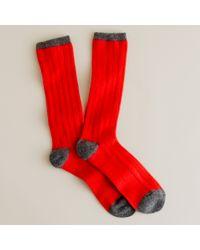 J.Crew | Gray Cashmere Socks for Men | Lyst