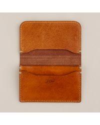 J.Crew | Brown Cognac Accordion Wallet for Men | Lyst