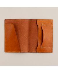 J.Crew Brown Cognac Leather Passport Holder for men