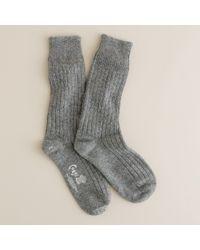 J.Crew Gray Corgi™ Cashmere Socks