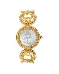 Just Cavalli - Metallic Jc Stud - Crystal Framed Logo Dial Bracelet Watch - Lyst