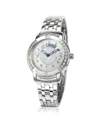 Just Cavalli - Metallic Crystal Lady - Crystal Bezel Stainless Steel Watch - Lyst