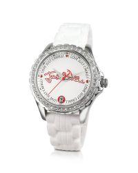 Just Cavalli - Easy White Crystal Bezel Watch - Lyst