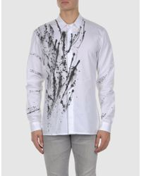 Kris Van Assche White Splatter Shirt for men