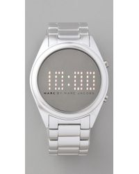 Marc By Marc Jacobs | Metallic Chuck Digital Watch | Lyst