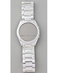 Marc By Marc Jacobs   Metallic Chuck Digital Watch   Lyst