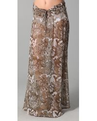 Mikoh Swimwear | Brown East Hampton Long Silk Skirt Cover Up | Lyst