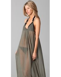 Mikoh Swimwear - Green Sardinia Long Silk Cover Up Dress - Lyst