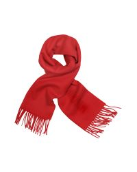 Moschino - Red Signature Solid Wool Fringed Long Scarf - Lyst